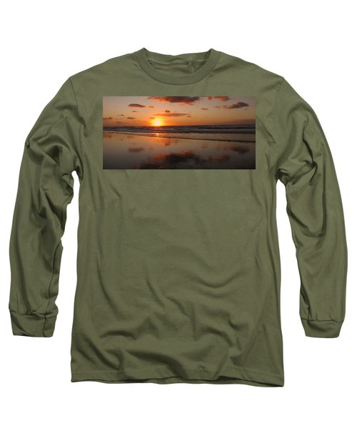 Wildwood Beach Sunrise Long Sleeve T-Shirt by David Dehner