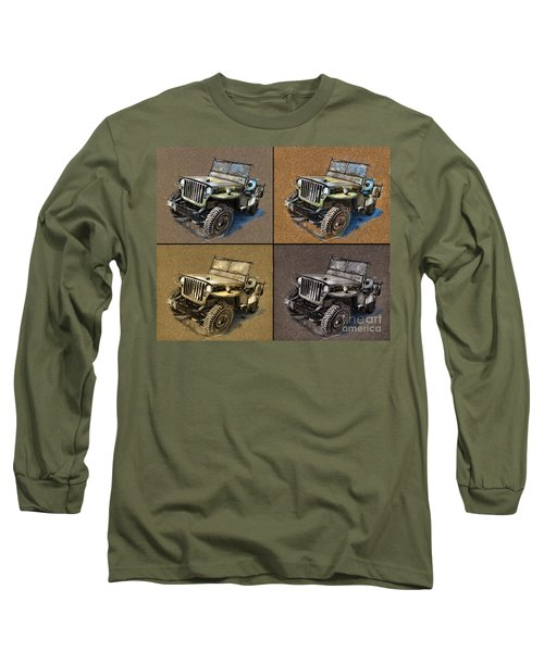 Willys Jeep Mb Car Drawing Long Sleeve T-Shirt