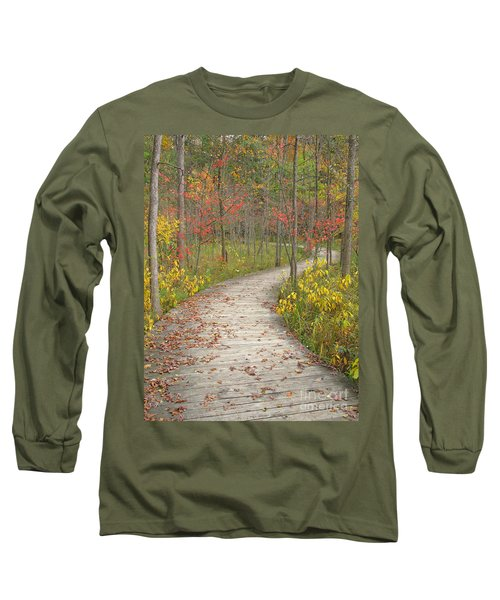 Long Sleeve T-Shirt featuring the photograph Winding Woods Walk by Ann Horn