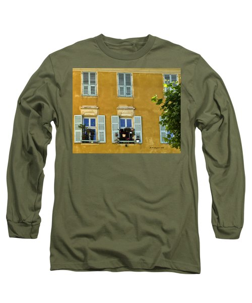 Long Sleeve T-Shirt featuring the photograph Windowboxes In Nice France by Allen Sheffield
