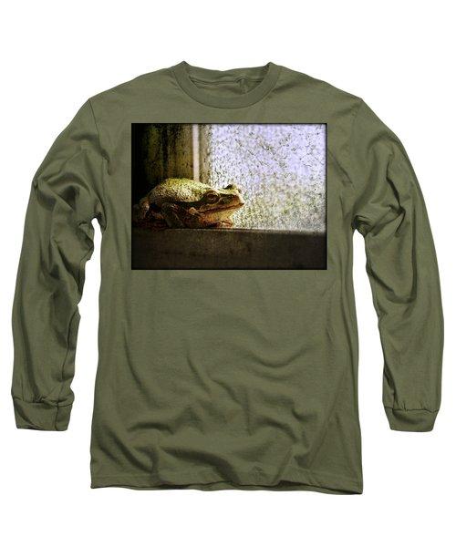 Windowsill Visitor Long Sleeve T-Shirt