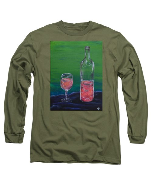 Wine Glass And Bottle Long Sleeve T-Shirt
