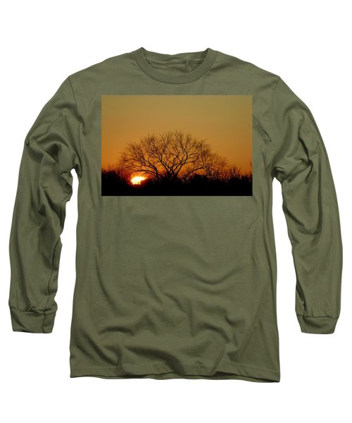 Winter Sunset Long Sleeve T-Shirt by Leeon Pezok
