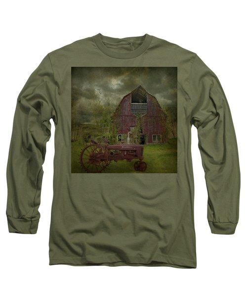 Wisconsin Barn 3 Long Sleeve T-Shirt by Jeff Burgess