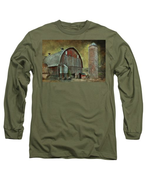 Wisconsin Barn - Series Long Sleeve T-Shirt by Jeff Burgess