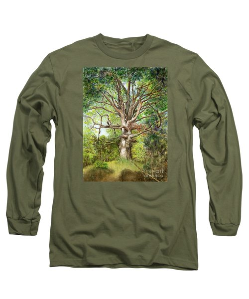 Wisdom Long Sleeve T-Shirt by Nancy Cupp