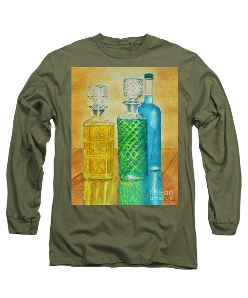 Whiskey Bottles Long Sleeve T-Shirt