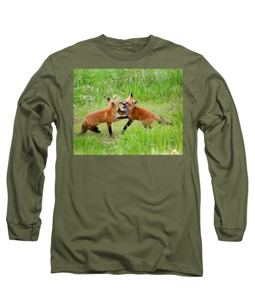 With Kit Gloves Long Sleeve T-Shirt by Jim Garrison
