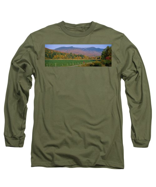 Woman Cycling On A Road, Stowe Long Sleeve T-Shirt