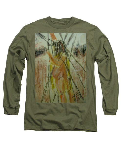Woman In Sticks Long Sleeve T-Shirt