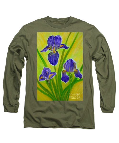 Wonderful Iris Flowers 3 Long Sleeve T-Shirt