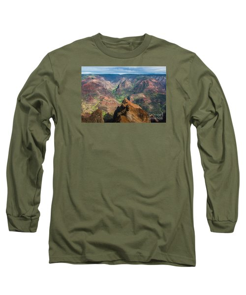 Wonders Of Waimea Long Sleeve T-Shirt by Suzanne Luft