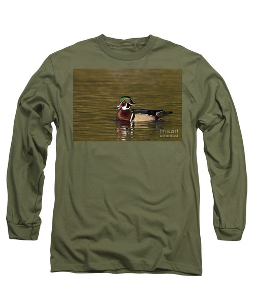 Wood Duck Calling Long Sleeve T-Shirt