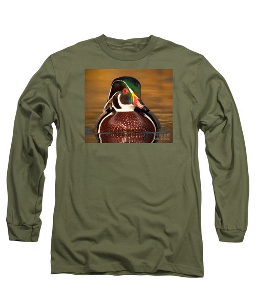 Wood Duck Long Sleeve T-Shirt by Jerry Fornarotto