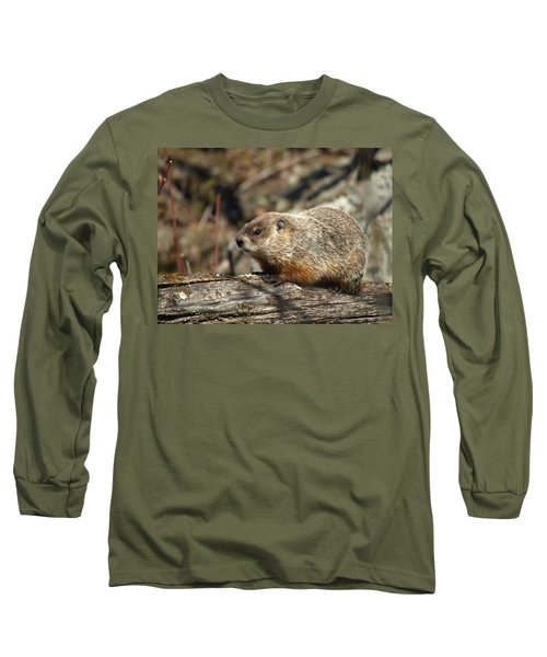 Long Sleeve T-Shirt featuring the photograph Woodchuck by James Peterson