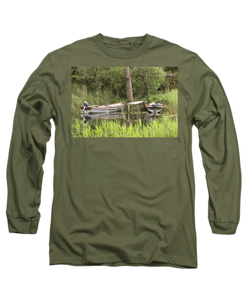 Wooden Boats Long Sleeve T-Shirt by Jeremy Voisey