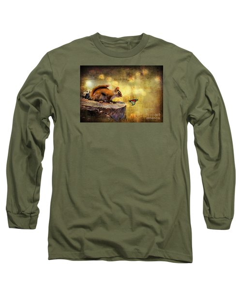 Long Sleeve T-Shirt featuring the photograph Woodland Wonder by Lois Bryan