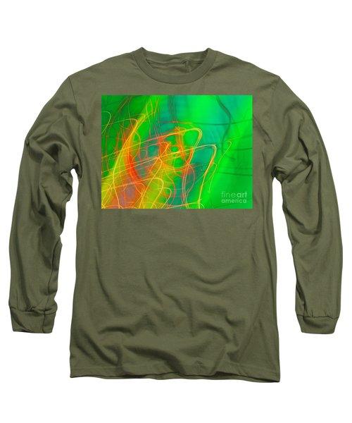 Long Sleeve T-Shirt featuring the photograph Write Light Rainbow by Luc Van de Steeg