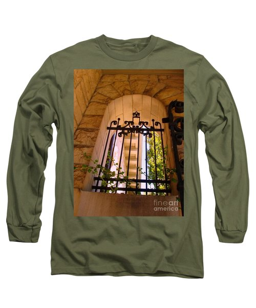 Long Sleeve T-Shirt featuring the photograph Wrought Iron Arch Window 1 by Becky Lupe