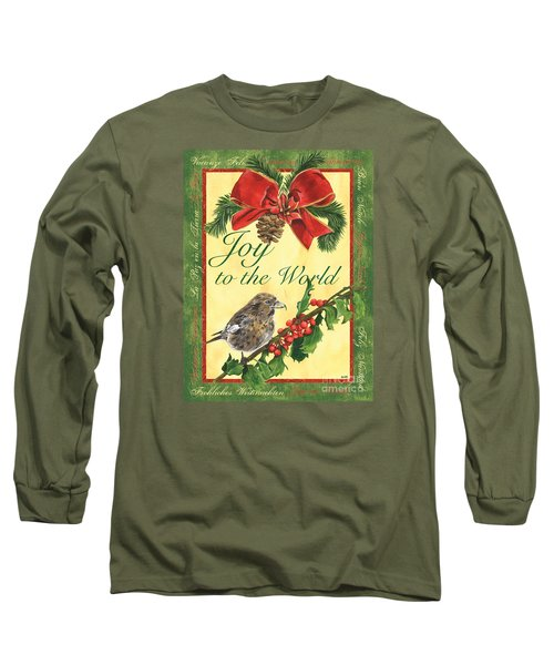 Xmas Around The World 2 Long Sleeve T-Shirt by Debbie DeWitt