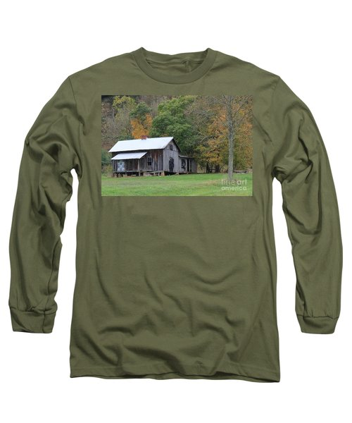 Ye Old Cabin In The Fall Long Sleeve T-Shirt