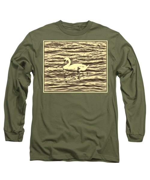 Long Sleeve T-Shirt featuring the photograph Ye Olde Swan by Shawn Dall