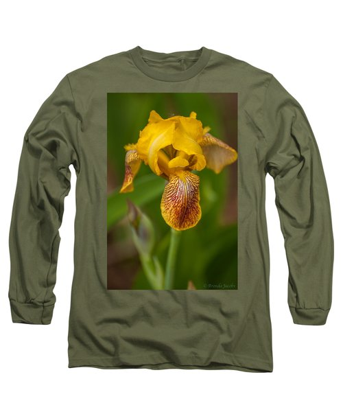 Long Sleeve T-Shirt featuring the photograph Yellow Bearded Iris by Brenda Jacobs