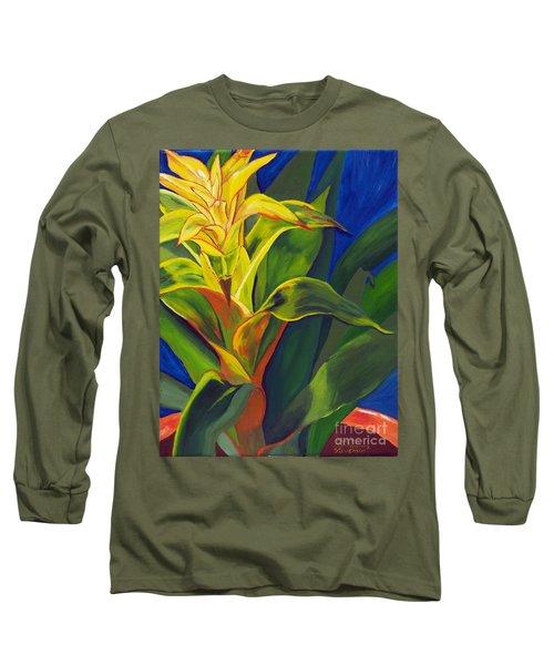 Yellow Bromeliad Long Sleeve T-Shirt