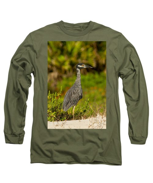 Yellow Crowned Night Heron Dune Watch Long Sleeve T-Shirt