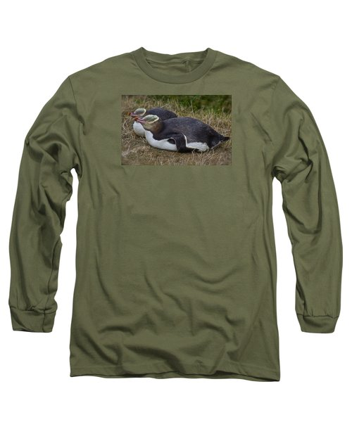 Sleeping Yellow Eyed Penguins Long Sleeve T-Shirt