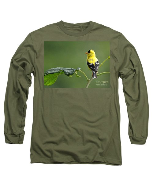 Long Sleeve T-Shirt featuring the photograph Yellow Finch by Nava Thompson