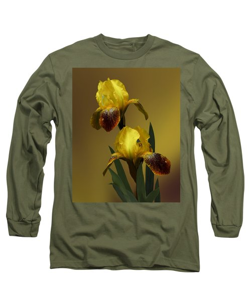 Long Sleeve T-Shirt featuring the photograph Yellow Iris by Judy  Johnson