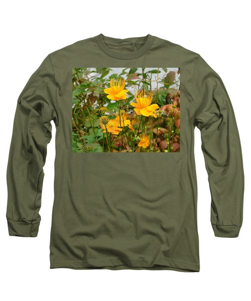 Long Sleeve T-Shirt featuring the photograph Yellow Is Golden by Lew Davis