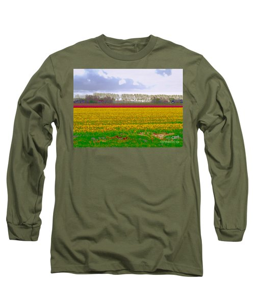 Long Sleeve T-Shirt featuring the photograph Yellow Meadow by Luc Van de Steeg