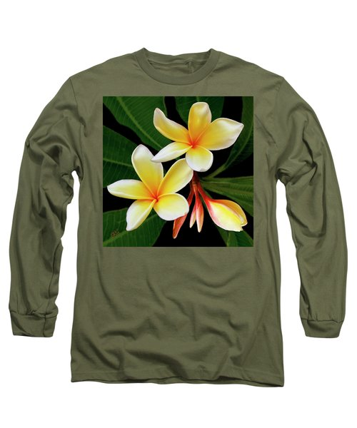 Yellow Plumeria Long Sleeve T-Shirt
