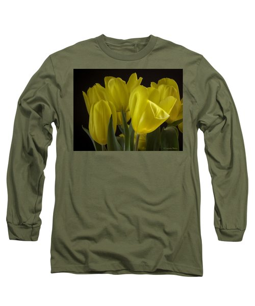 Long Sleeve T-Shirt featuring the photograph Yellow Silk by Lucinda Walter