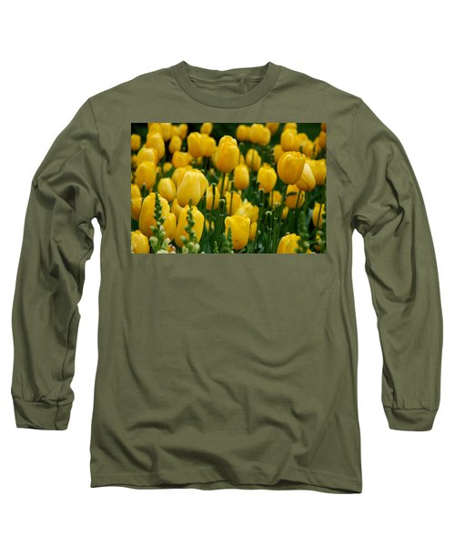 Yellow Tulip Sea Long Sleeve T-Shirt