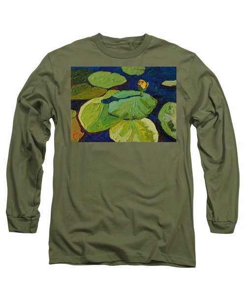 Yellow Waterlily Long Sleeve T-Shirt by Phil Chadwick