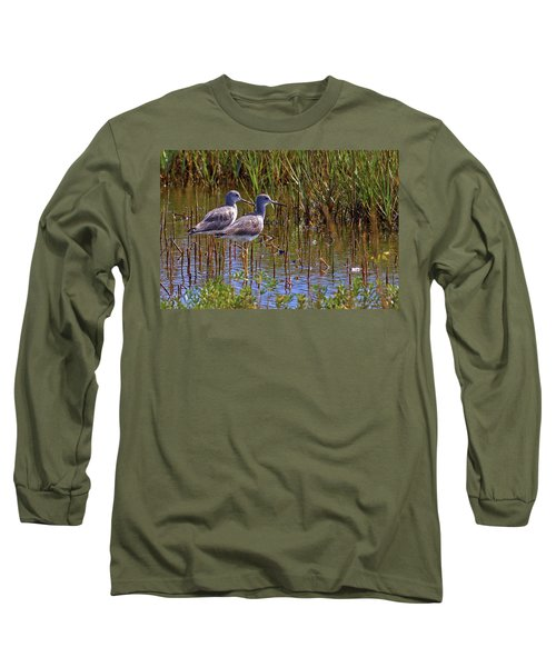 Long Sleeve T-Shirt featuring the photograph Yellowlegs Of Texas by Gary Holmes