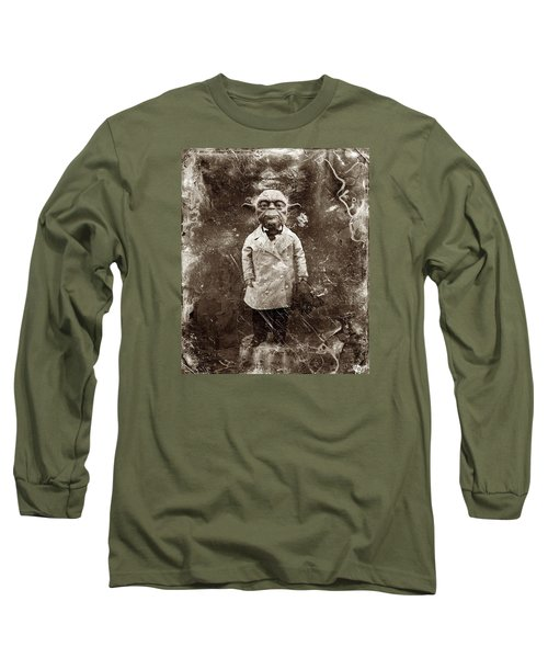 Yoda Star Wars Antique Photo Long Sleeve T-Shirt