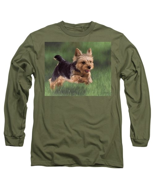 Yorkshire Terrier Painting Long Sleeve T-Shirt