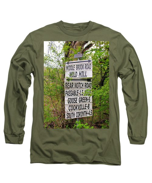 Long Sleeve T-Shirt featuring the photograph You Can Get There From Here by Sherman Perry