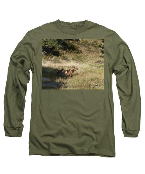 Young Bull Elk Long Sleeve T-Shirt