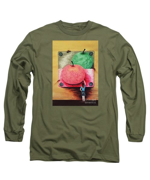 Long Sleeve T-Shirt featuring the painting Youth And Maturity by Jasna Gopic