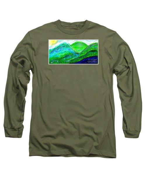 Long Sleeve T-Shirt featuring the digital art Van Gogh Sunrise by The Art of Alice Terrill