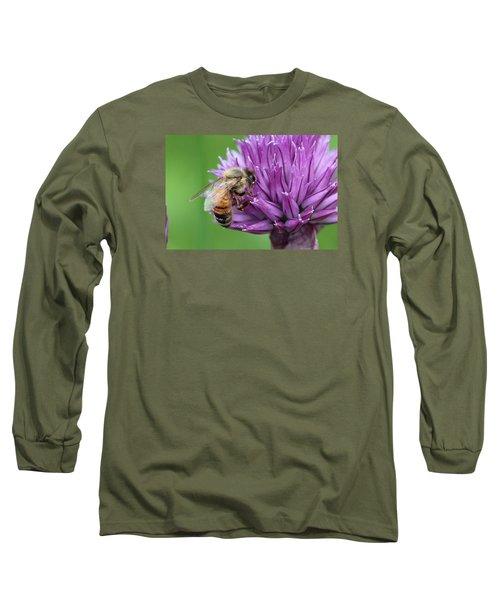 Yummm Chive Nectar Long Sleeve T-Shirt by Lucinda VanVleck