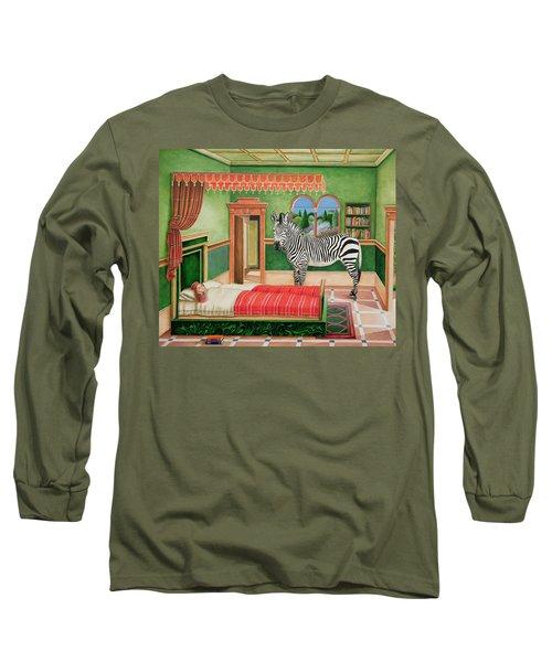 Zebra In A Bedroom, 1996 Long Sleeve T-Shirt