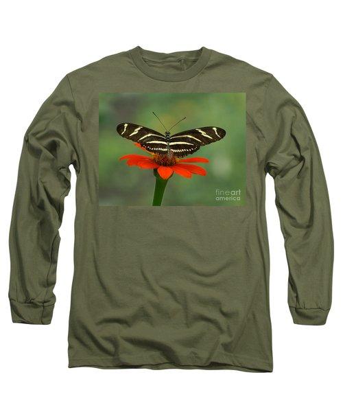 Zebra Longwing Butterfly Long Sleeve T-Shirt