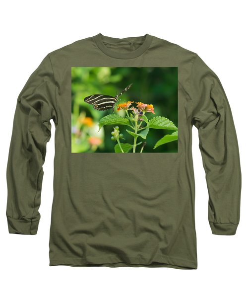 Long Sleeve T-Shirt featuring the photograph Zebra Longwing by Jane Luxton