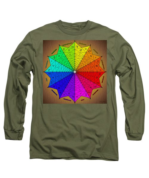 Zodiac Color Star Long Sleeve T-Shirt